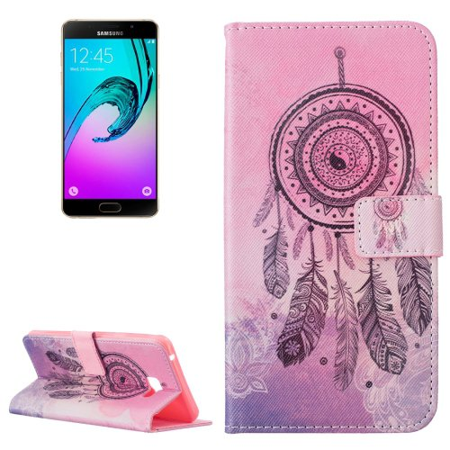 For Galaxy A7(2016) Windbell Pattern Leather Case with Holder, Card Slots & Wallet