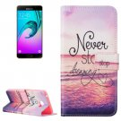 For Galaxy A7(2016) Dreaming Pattern Leather Case with Holder, Card Slots & Wallet