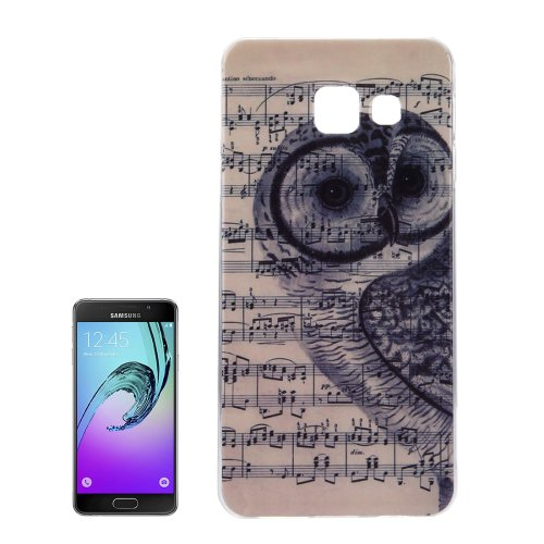 For Galaxy A7(2016) IMD Owl Music Score Pattern Soft TPU Protective Case Back Cover