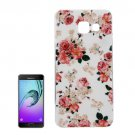For Galaxy A7(2016) IMD Flower Pattern Soft TPU Protective Case Back Cover