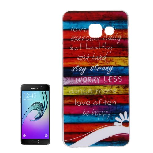 For Galaxy A7(2016) IMD Stripes Pattern Soft TPU Protective Case Back Cover
