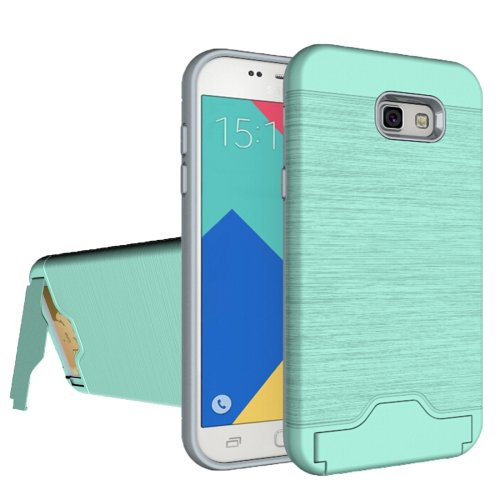 For Galaxy A7(2017) PC + TPU Protective Combination Back Case with Holder & Card Slot # Colors