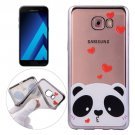 For Galaxy A7(2017) / A720 Love Bear Pattern Electroplating Frame Soft TPU Protective Case