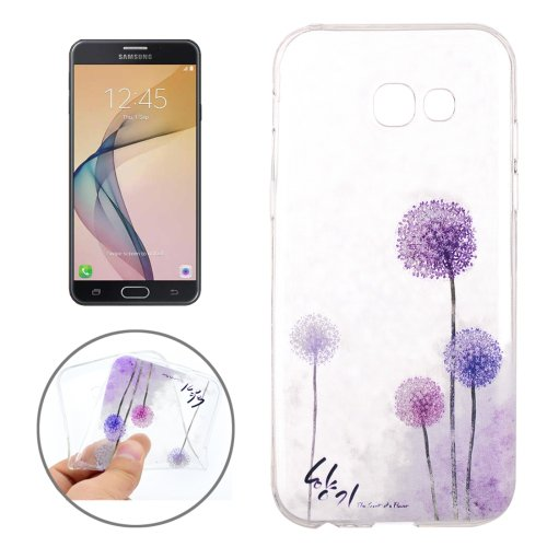 For Galaxy J7 (2017) Dandelion Pattern Soft TPU Protective Back Cover Case