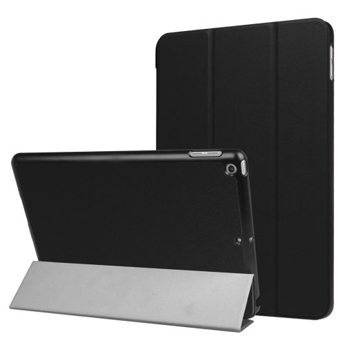 For iPad 9.7 inch 2017 Custer Texture Smart cover Leather Case with 3 fold Holder # Colors 1