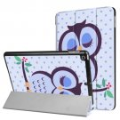 For iPad 9.7 inch 2017 Cross Texture Dot and Owl Pattern Leather Case with 3 Folding Holder