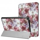 For iPad 9.7 inch 2017 Cross Texture Flower Pattern Leather Case with 3 Folding Holder