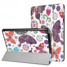 For iPad 9.7 inch 2017 Cross Texture Butterfly Pattern Leather Case with 3 Folding Holder