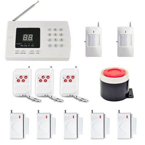 12 in 1 Kit PSTN 99 Zones 433MHz Wireless PIR Home Security Burglar Alarm System Auto Dialer
