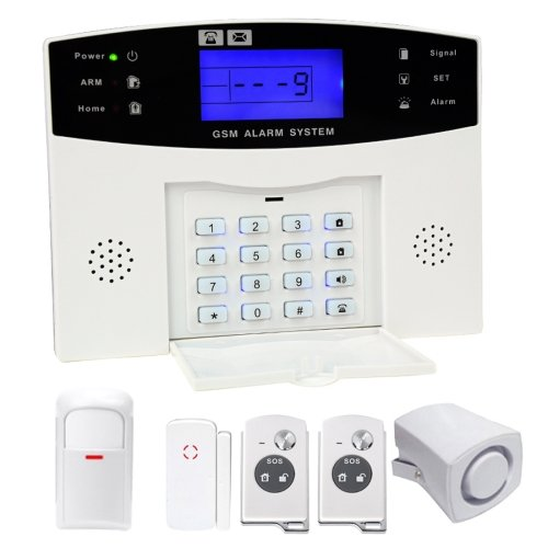6 in 1 Kit Wireless 315MHz GSM SMS Security Home House Burglar Alarm System with LCD Screen