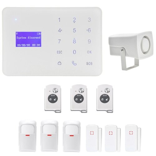 YA-700-GSM-9 Wireless Touch Key LCD Display Security GSM Alarm System Kit