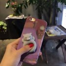 For iPhone 6 + & 6s + 3D Lovely Cat Squeeze Relief IMD Squishy Back Cover Case