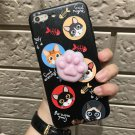 For iPhone 6 + & 6s + 3D Lovely Black Cat Squeeze Relief IMD Squishy Back Cover Case