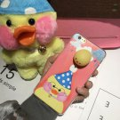 For iPhone 6 + & 6s + 3D Lovely Duck Squeeze Relief IMD Squishy Back Cover Case