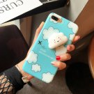 For iPhone 7 Plus Blue Cloud Stars Moon Pattern Squeeze Relief Squishy Back Cover Case