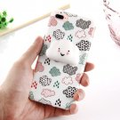 For iPhone 7 Plus Lovely Cloud Pattern Squeeze Relief Squishy Back Cover Case