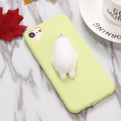 For iPhone 7 Plus 3D Bear Squeeze Relief Squishy Drop proof Back Cover Case