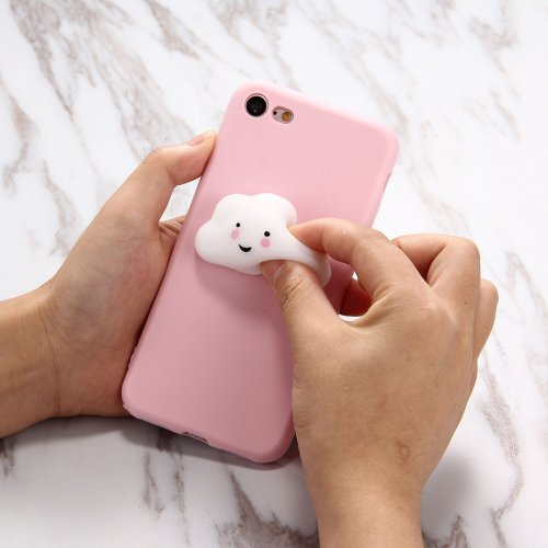 For iPhone 7 Plus 3D Cloud Squeeze Relief Squishy Drop proof Back Cover Case