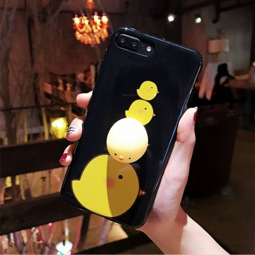 For iPhone 7 Plus Chicken Pattern Squeeze Relief IMD Workmanship Squishy Back Cover Case