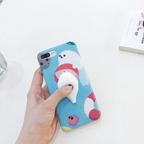 For iPhone 7 Plus Play Ball Seal Squishy Protective Back Cover Case