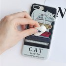 For iPhone 7 Plus Black Background 3D Lovely Cat Squishy Back Cover Case