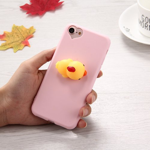 For iPhone 7 3D Duck Pattern Squeeze Relief Squishy Drop proof Back Cover Case