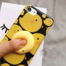 For iPhone 7 3D Little Chicken Y Pattern IMD Workmanship Squishy Back Cover Case
