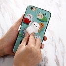 For iPhone 7 3D Cat Cartoon Pattern IMD Workmanship Squishy Back Cover Case