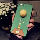 For iPhone 7 3D Bear Pattern IMD Workmanship Squishy Back Cover Case