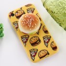 For iPhone 7 Sesame Burger Pattern Squeeze Rebound Squishy Drop proof Back Cover Case