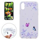 For iPhone 8 Variegated Butterflies Pattern TPU Protective Case