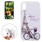For iPhone 8 Tower Bicyle Pattern TPU Protective Case