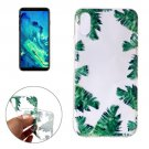 For iPhone 8 Green Leaf Pattern TPU Protective Case