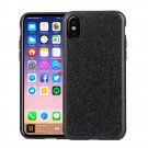 For iPhone 8 TPU + PU Glitter Powder Drop-proof Protective Back Cover Case - 5 colors