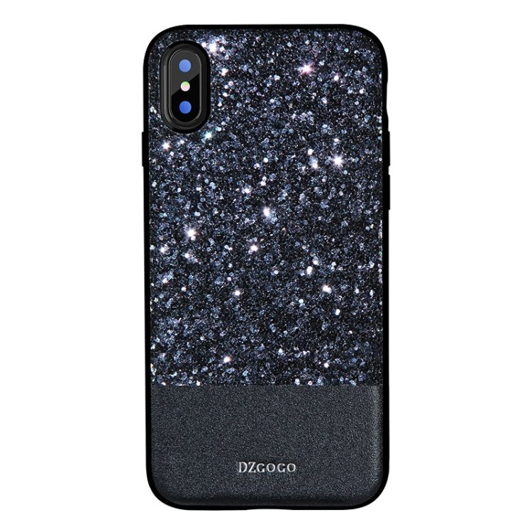 For iPhone 8 DZGOGO Bling PU + TPU + PC Sequins Grind Arenaceous Case - 3 colors