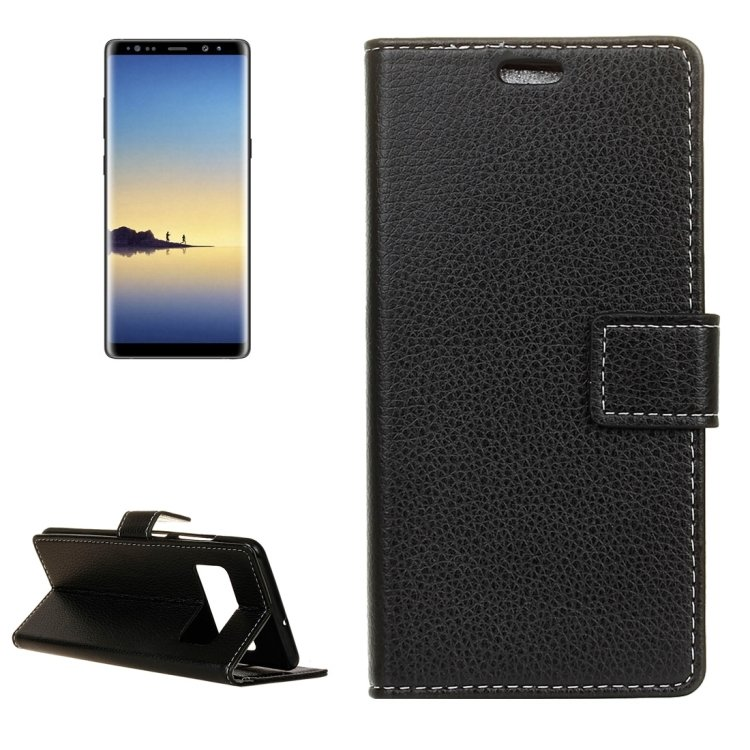 For Galaxy Note 8 Litchi Leather Case with Holder, Card Slots, Frame & Wallet - 5 colors