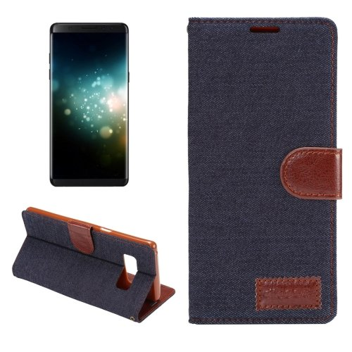 For Galaxy Note 8 Denim Texture Leather Case with Holder & Card Slots - 3 colors