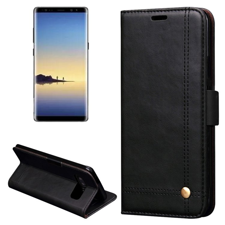 For Galaxy Note 8 Crazy Horse Leather Case with Holder, Card Slots & Wallet - 3 colors