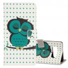 For Galaxy Note 8 Owl Pattern Leather Case with Holder, Card Slots & Wallet