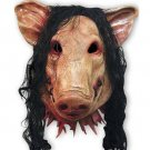 Halloween Festival Party Fancy Pig Face Masquerade Masks with Hair