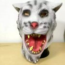 Popular Freak Halloween Mask Masquerade Emulsion Sabre Rattling White Tiger Mask