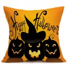 Halloween Decoration Pattern Car Sofa Pillowcase - B - Size:43 x 43 cm