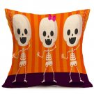 Halloween Decoration Pattern Car Sofa Pillowcase - G - Size:43 x 43 cm