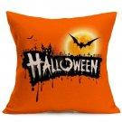 Halloween Decoration Pattern Car Sofa Pillowcase - J - Size:43 x 43 cm