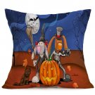 Halloween Decoration Pattern Car Sofa Pillowcase - N - Size:43 x 43 cm