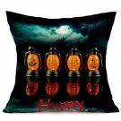 Halloween Decoration Pattern Car Sofa Pillowcase - P - Size:43 x 43 cm