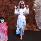 Halloween Party Adult Women Lace Cosplay Clothing Corpse Bride Dress