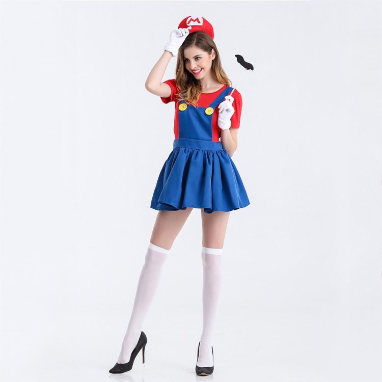 Halloween Red Mary Stage Dress Cosplay Costume Outfit Dress Skirt, Size:L
