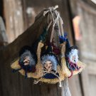 3 PCS Halloween Decoration Supplies Witches Broom Hanging Decor Hanging Ornaments