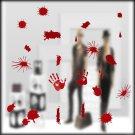 Halloween Festive Atmosphere Horrible Bloody Handprint DIY Wall Static Sticker